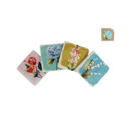 Floral Paint Resin Coaster Assorted By Gisela Graham | Restoration Yard