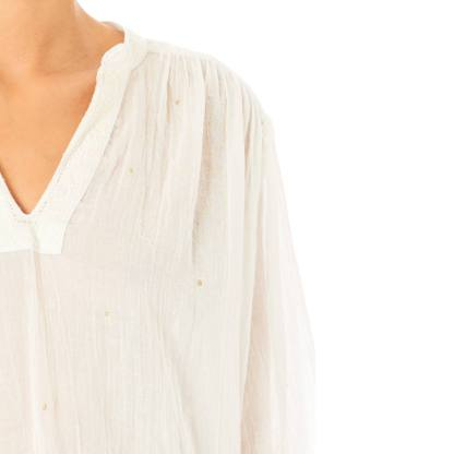 Mattea Embroidered Top Acru by M.A.B.E | Restoration Yard