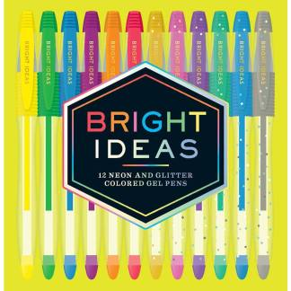 Bright Ideas: 12 Neon and Glitter Coloured Gel Pens | Restoration Yard