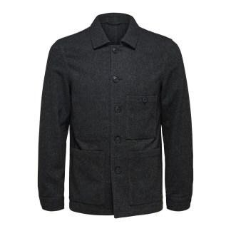 Workwear Blazer Grey Herringbone by Selected Homme