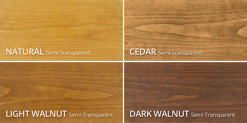 Stains Chart Color Wood