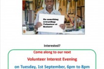 Want to hear about volunteering at Restore? Come along to our volunteer interest event.