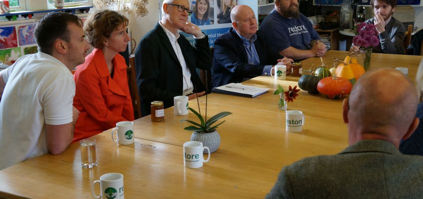 Local MP and County Council Leader visit Restore to mark World Mental Health Day