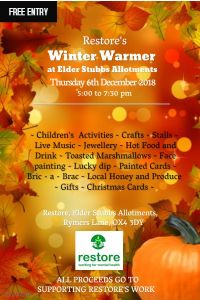 Winter warmer festival at Elder Stubbs allotments @ Elder Stubbs Allotments, Rymers Ln, Oxford OX4 3DY, United Kingdom