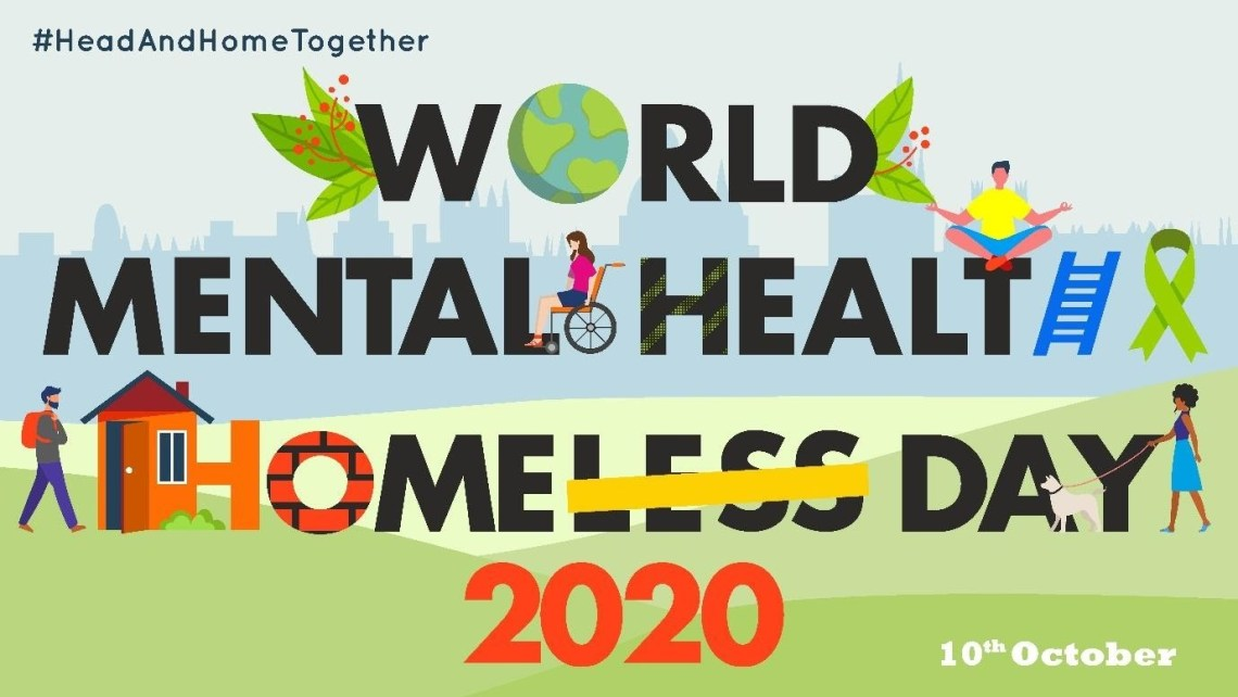 World Mental Health and World Homeless Day banner