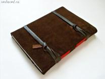 jurnal handmade piele intoarsa maro3