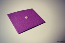 invitatie nunta handmade alb mov2