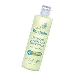 Bare Baby Organics Baby Shampoo Body Wash with Aloe, Cucumber, Citrus Essential Oils