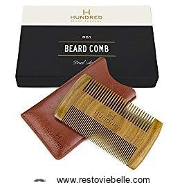 Dual Action Beard Comb - Perfect for Balm and Oil