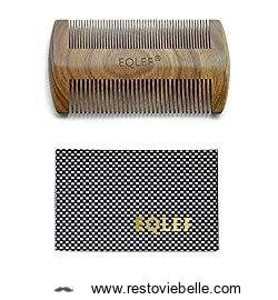 EQLEF® Green sandalwood - no static handmade comb