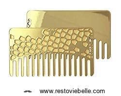 Go-Comb + Mirror / Brass Tile Hair Comb