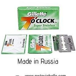 Gillette 7 O'clock Super Stainless Razor Blades