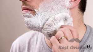 Building lather on the face using Best Shaving Brush
