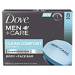 Dove Men Care Body Face Bar, Clean Comfort