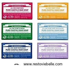 Dr- Bronner's Original Organic Castile Bar Soap - Best Moisturizing Bar Soaps