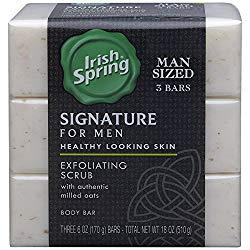 Irish Spring Signature Exfoliating Bar Soap
