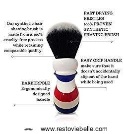 Haircut   Shave Co- Synthetic Shaving Brush 1