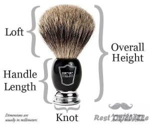 size of shaving brush
