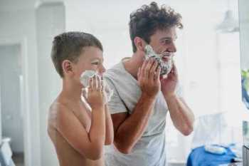 He wants to do everything that Dad does  Prepare Well To Shaving