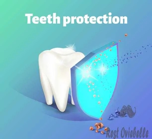 Teeth protection concept. A tooth being protected by a shield. vector art illustration