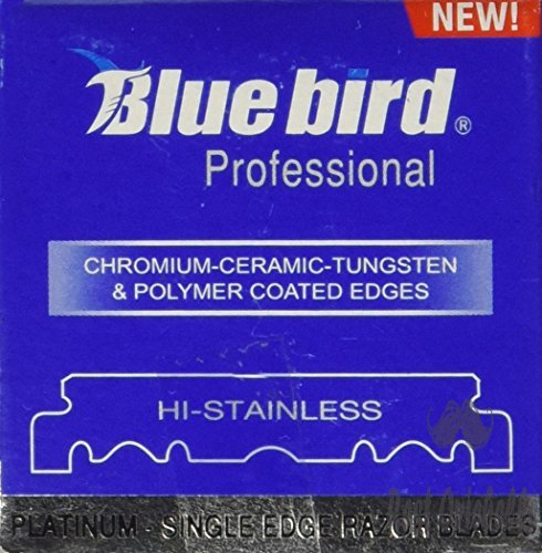 100 BLUEBIRD Single Edge Razor Blades for Barbers Hi-Stainless
