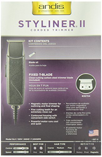 Andis Professional Styliner II Beard/Hair Trimmer, Black, Model SLII (26700)  Image 3