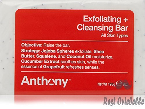 Anthony Exfoliating and Cleansing Bar, Grapefruit, 7 oz