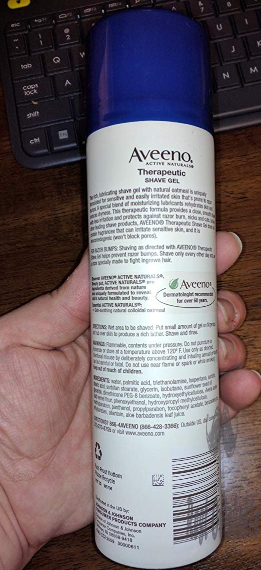 Aveeno Therapeutic Shave Gel with Oat and Vitamin E to Help Prevent Razor Bumps and Soothe Dry and Sensitive Skin, No Added Fragrances and Non-Comedogenic, 7 oz Customer Image 2