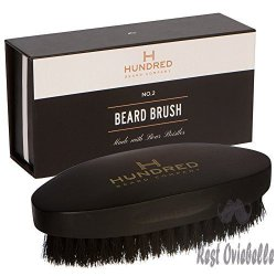 Boar Bristle Beard Brush Perfect For Balms and Oils Natural, Soft Boars Hair
