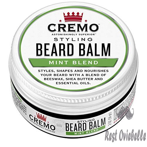Cremo Styling Beard Balm, Mint Blend -- Nourishes, Shapes And Moisturizes All Lengths of Facial Hair, 2 Ounces