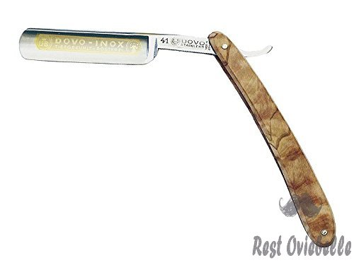 DOVO Inox Straight Razor with Olive Wood Handle 5/8 Inch, 10 g.  Image 1