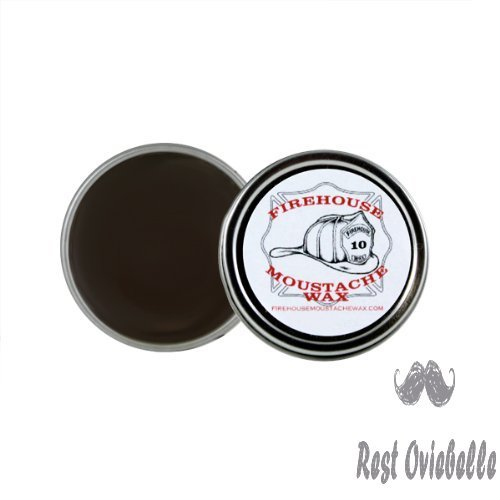 Firehouse Moustache WAX'S Superior HoldWacky Tacky Wax, 1 Ounce TIN | TAME, Train, Style & Control Facial Hair All Day in Any Kind of Weather | Handmade in Small BATCHES by Fireman John
