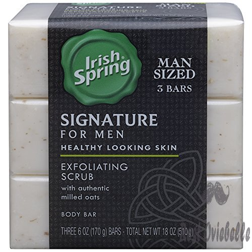 Irish Spring Signature Exfoliating Bar Soap, 6oz, 3 Count