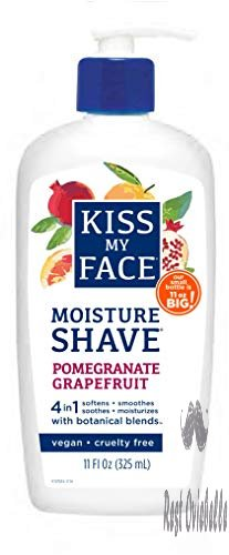 Kiss My Face Moisture Shave Shaving Cream, Pomegranate Grapefruit Shaving Soap, 11 Oz