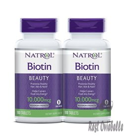 Natrol Biotin Beauty Tablets, Promotes