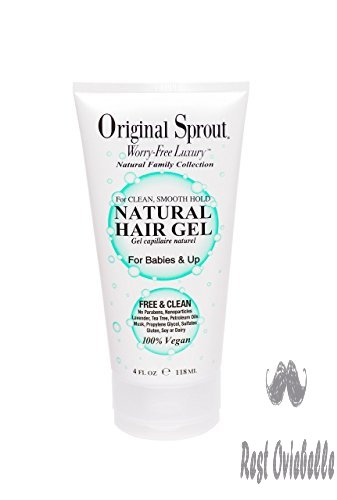 Original Sprout Natural Hair Gel. Anti-Frizz Hair Gel. All Natural Hair Care for Babies, Kids, and Adults. 4 oz.