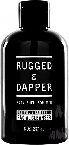 RUGGED & DAPPER Face Wash for Men | 8 Oz. | Daily Scrub + Facial Cleanser + Toner In One | Combats Aging & Breakouts | Organic & Natural Ingredients