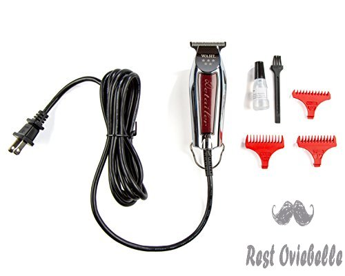 Wahl Professional Series Detailer #8081 - With Adjustable T-Blade, 3 Trimming Guides (1/16 inch - 1/4 inch), Red Blade Guard, Oil, Cleaning Brush and Operating Instructions, 5-Inch  Image 2