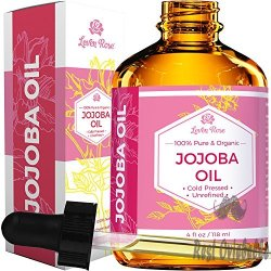 Leven Rose Organic 100% Pure Cold Pressed Jojoba Oil