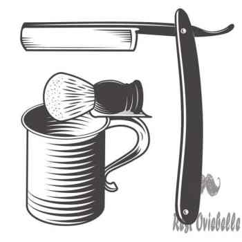 shaving mug brush and razor - shaving mug stock illustrations clip art cartoons & icons Choose Between A Scuttle, Bowl Or Mug
