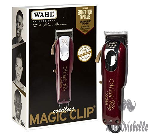 Wahl Professional 5-Star Cord/Cordless Magic Clip #8148 - Great for Barbers & Stylists - Precision Cordless Fade Clipper Loaded with Features - 90+ Minute Run Time