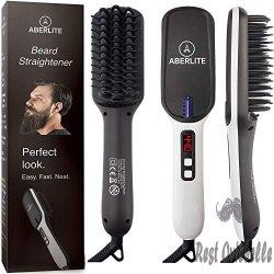 Aberlite Ionic Beard Straightening Heat Brush