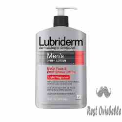 Lubriderm Men's 3-in-1 Body Lotion With Light Fragrance
