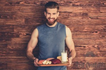 man with healthy food - beard men eat stock pictures royalty-free photos & images