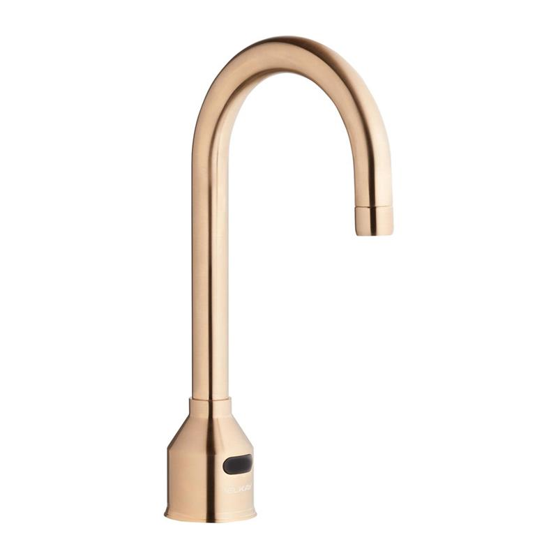 elkay lkb721cnc commercial hands free touchless faucet ir sensor operated polished chrome copper nickel color