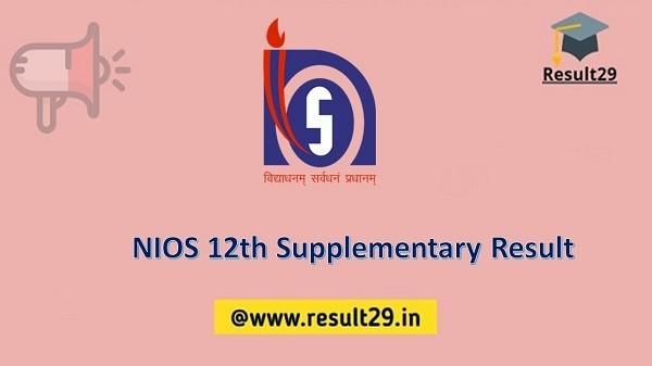 NIOS 12th Supplementary Result