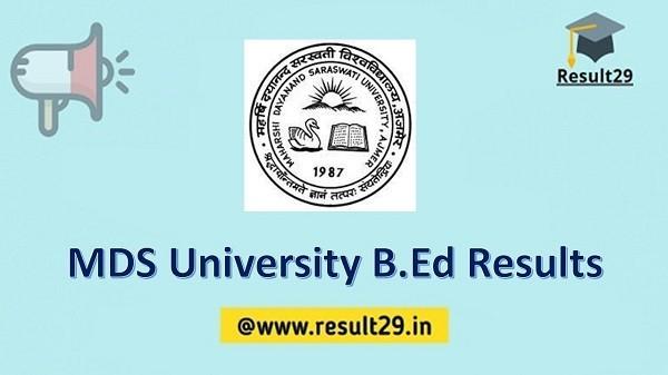 MDS University B.Ed Results