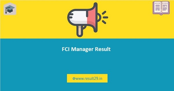 FCI Manager Result 2020