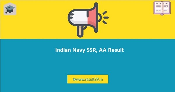 Indian Navy SSR, AA Result