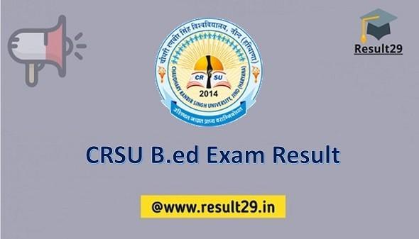 CRSU B.ed Exam Result